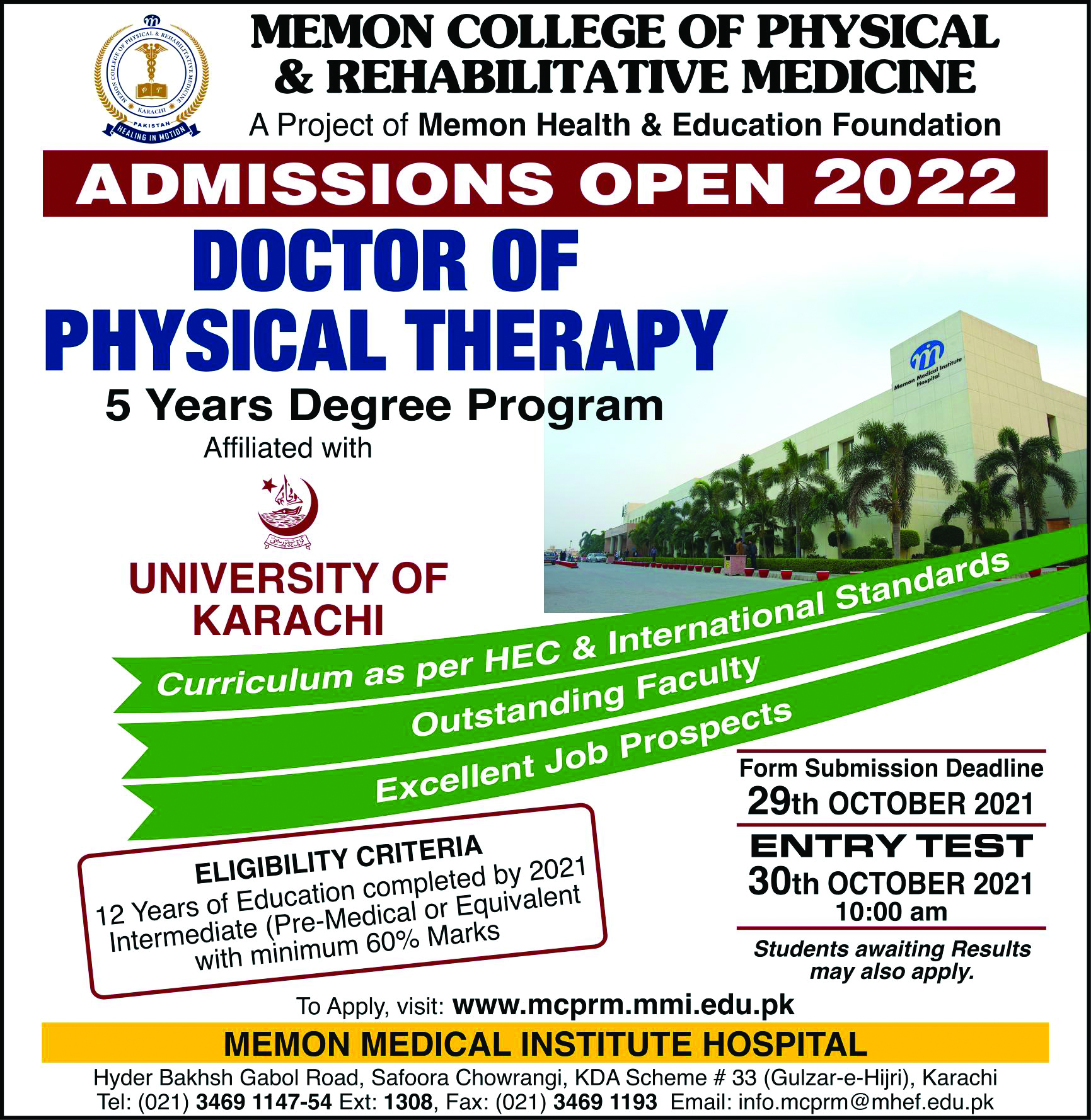 Admission Open 2022